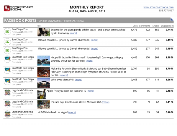 ScoreboardSocial Monthly Report Example 3