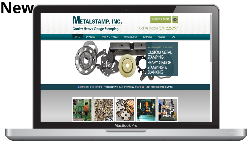 New Responsive Website Redesign for Metalstamp, inc.