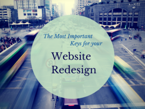 most important keys for website redesign