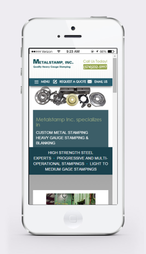 New Mobile Responsive Website Redesign for Metalstamp, inc.