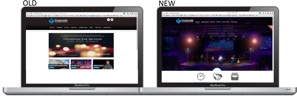 New website launch - Old vs. New
