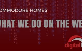 What we do on the web Commodore homes
