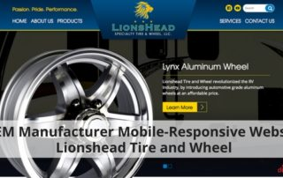 OEM Manufacturer Mobile-Responsive Website Lionshead Tire and Wheel - 315
