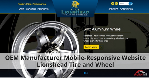 OEM Manufacturer Mobile-Responsive Website Lionshead Tire and Wheel - 315