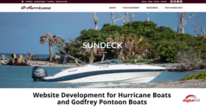 Website Development for Hurricane Boats and Godfrey Pontoon Boats