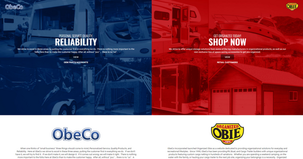 2 Websites in One - www.obecoinc.com Multi-Site Website-1