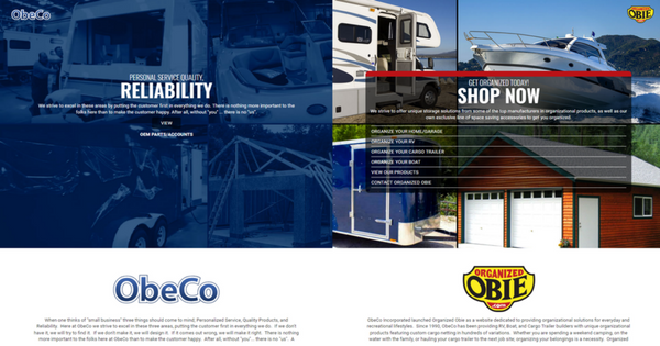 2 Websites in One - www.obecoinc.com Multi-Site Website-2
