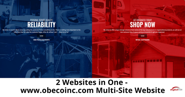 2 Websites in One - www.obecoinc.com Multi-Site Website-315