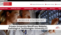 Private University WordPress Website_ Radiological Technologies University VT