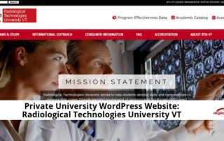 Private University WordPress Website_ Radiological Technologies University VT