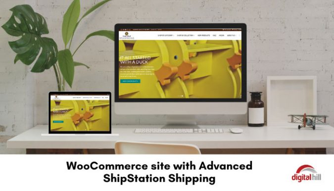 Website home page with WooCommerce and ShipStation shipping.