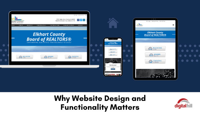 Website design and functionality shown on 3 devices.