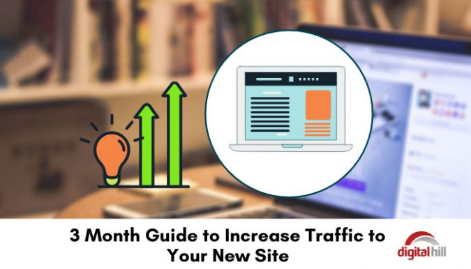 3 month guide to increase traffic to your new site.