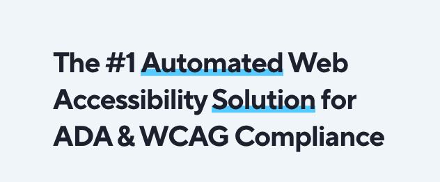 ADA compliance WCAG compliance