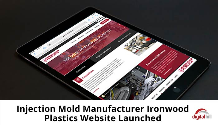 Mobile friendly website, Ironwood Plastics launched recently and showing on iPad.
