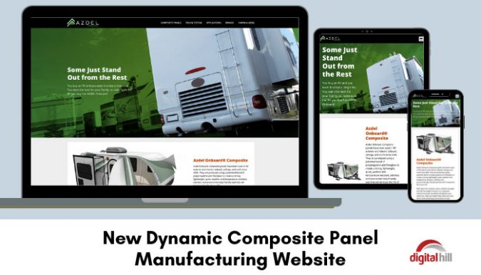 New-Dynamic-Composite-Panel-Manufacturing-Website show in laptop, phone and tablet.