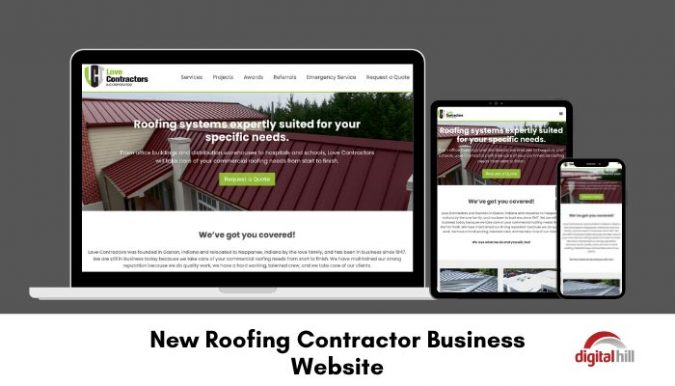 New roofing contractor business website.