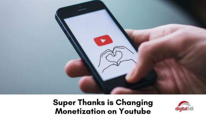 YouTube's Super Thanks new feature.