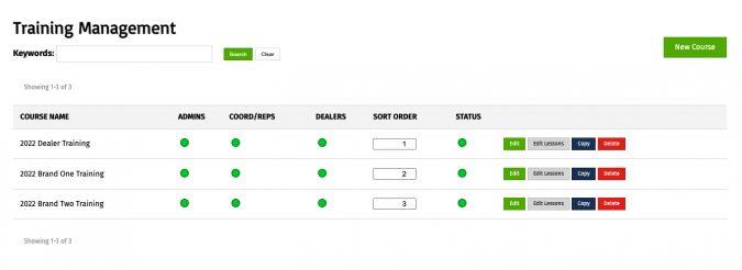 Web-based Online Training Tool